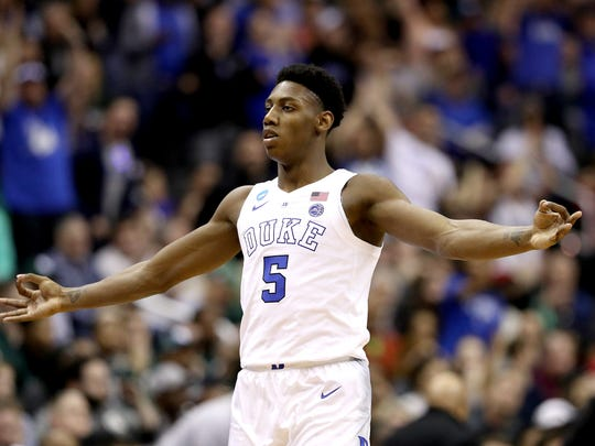 Former Duke star RJ Barrett is presumably the Knicks' pick at No. 3.