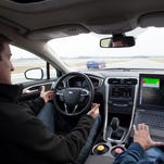 Ford Fusion Hybrid automated research vehicle to make progress on automated driving and other advanced technologies.