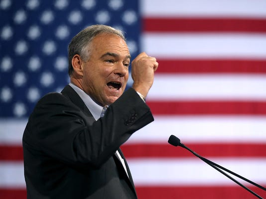 Democratic Presidential Candidate Hillary Clinton Appears With Vice Presidential Pick Sen. Tim Kaine