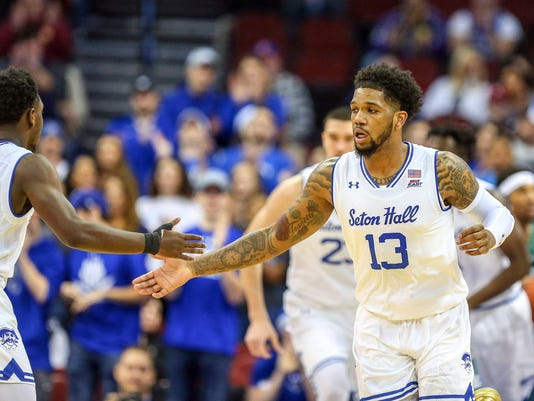 NCAA Basketball: Manhattan at Seton Hall