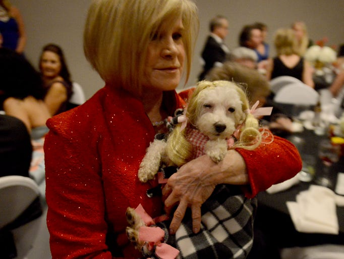 "Lynn Loflin carries around ""Dorthy"" during the pet"