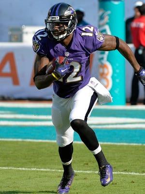 WR/KR Jacoby Jones was a critical part of the Ravens' most recent Super Bowl win.