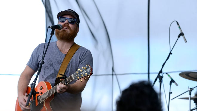 Marc Broussard performs during the Pensacola Seafood Festival at Seville Square.