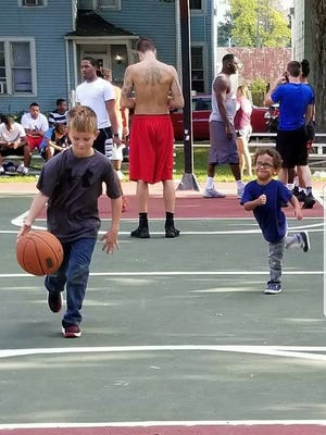 Kids play during the 2017 Battle of the Blacktop organized by the Men and Women of Purpose.
