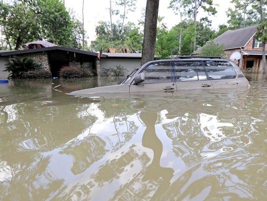Flooded car