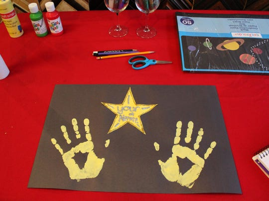 """Visitors could feel like a """"star"""" at the Noyes Museum and make their very own Hollywood Square."""