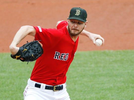Boston Red Sox pitcher Chris Sale.