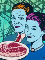 """Attendees are asked to bring canned goods for Second Harvest to the art opening for """"Yum."""""""