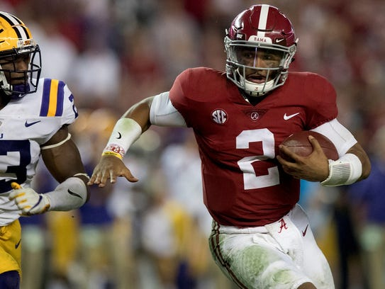 Jalen Hurts (2) is 24-2 as a starting quarterback at