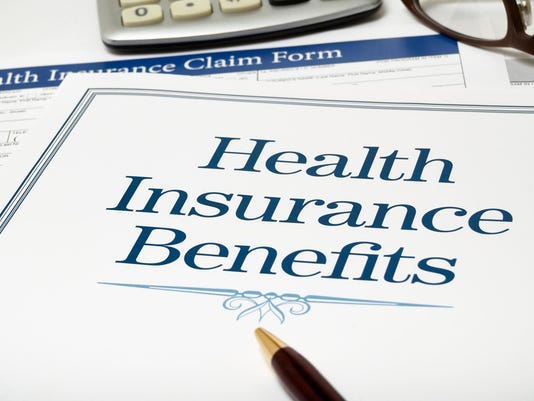 Health Insurance Benefits book close-up