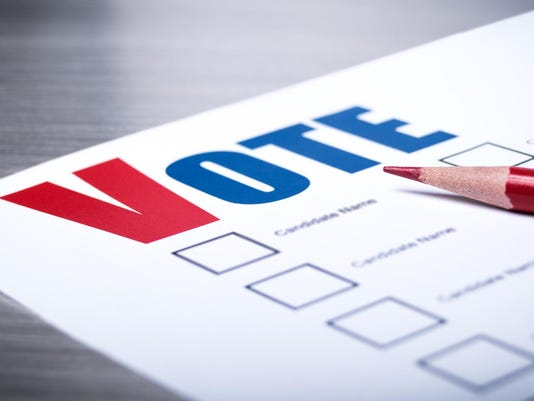 Voters ballot close-up