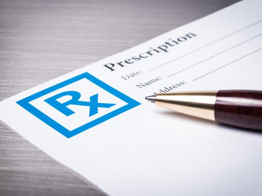 Prescription form close-up