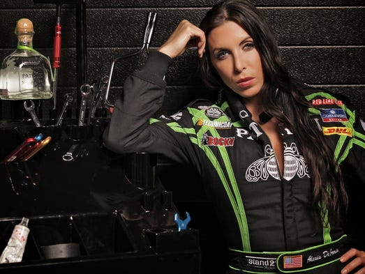 Alexis DeJoria, born September 24, 1977 in Venice, Calif., has been competing in the NHRA Funny Car category since 2011.