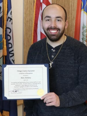 Brett Anthony, the County Executive's April Citizen of the Month.