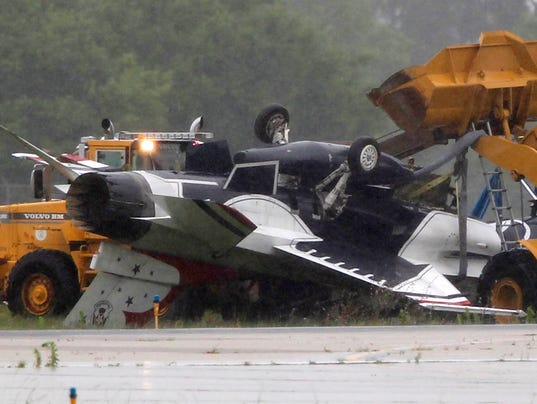 F 16 Thunderbird Plane Crashes At Wright Patterson Air