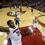 Chane Behanan goes up for a dunk in the second half against Kentucky. December 21, 2012
