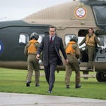 """This photo provided by Warner Bros. Pictures shows, Hugh Grant as Waverly, in Warner Bros. Pictures' action adventure """"The Man from U.N.C.L.E.,"""" a Warner Bros. Pictures release. The movie opens Aug. 14, 2015."""