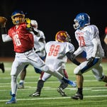 Section 4 football all-stars faced off in an East vs. West showdown at Johnson City High School on Wednesday, Nov. 25, 2015.