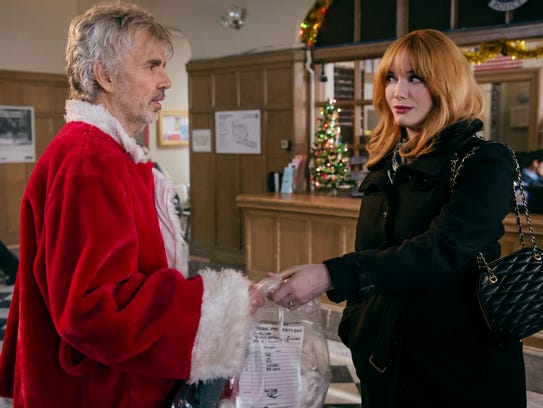 Billy Bob Thornton and Christina Hendricks get into
