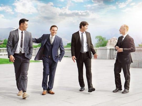 From left, Al van der Beek, Steven Sharp Nelson, Paul