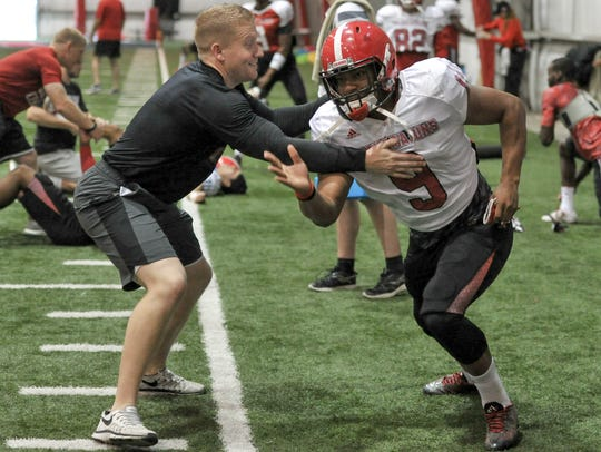 UL's Trey Ragas, shown here during spring practice,