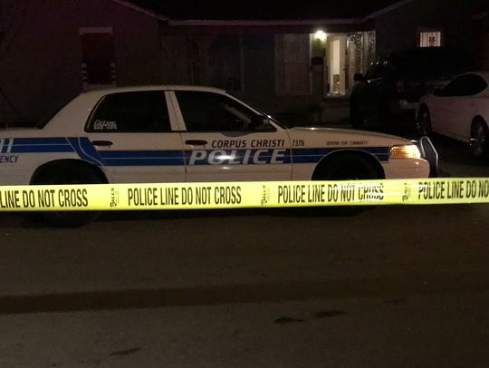 Crime scene tape covered parts of the 200 block of