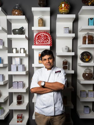 "Executive Chef Asif R. Syed in his Naples restaurant 21 Spices. He is the chef for the Naples Art Association fundraiser, ""For the Love of Art."""