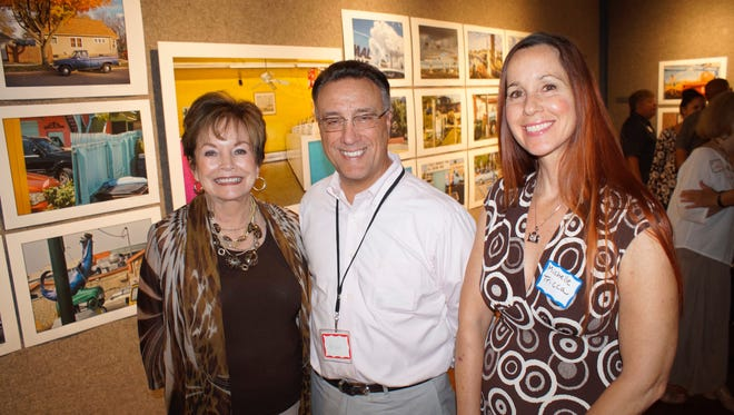 Marco Island Center for the Arts President  Rosemary Wick, , Kevin O'Fee and Michelle Tricca.