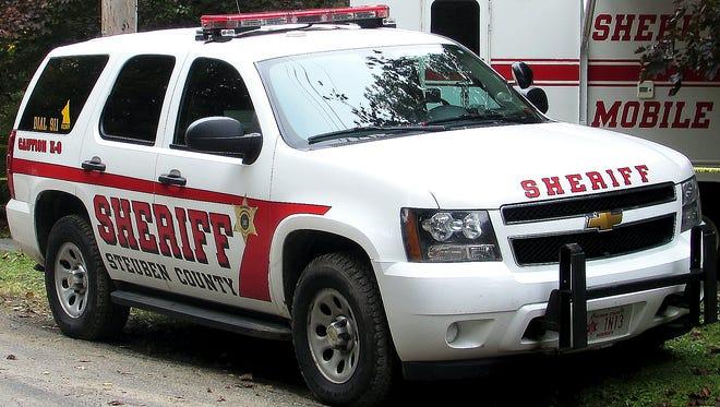 Steuben County sheriff's cruiser