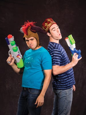 """Marco Antonio Vega plays Marco and Riley Shanahan plays Riley in the Utah Shakespeare Festival's 2017 production of """"William Shakespeare's Long Lost First Play (abridged)."""""""