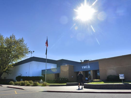 A patron walks into the St. Cloud Area Family YMCA