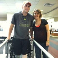 Sgt. Drew Mullee and his wife, Jenn, will be the benefactors of Saturday's One Hero at a Time fundraiser at the CasaBlanca Resort.