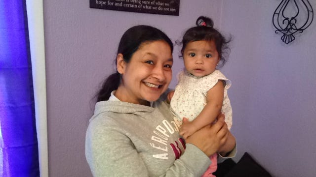 Rebecca Sifuentes, a former resident of Hannah's House, and her 6-month-old daughter Ava.