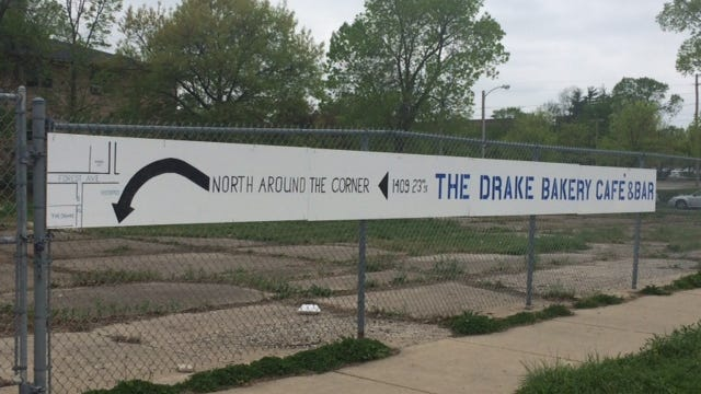 City officials must formally approve this sign along Forest Avenue pointing to the Drake, Cafe & Bar at 1409 23rd. St.