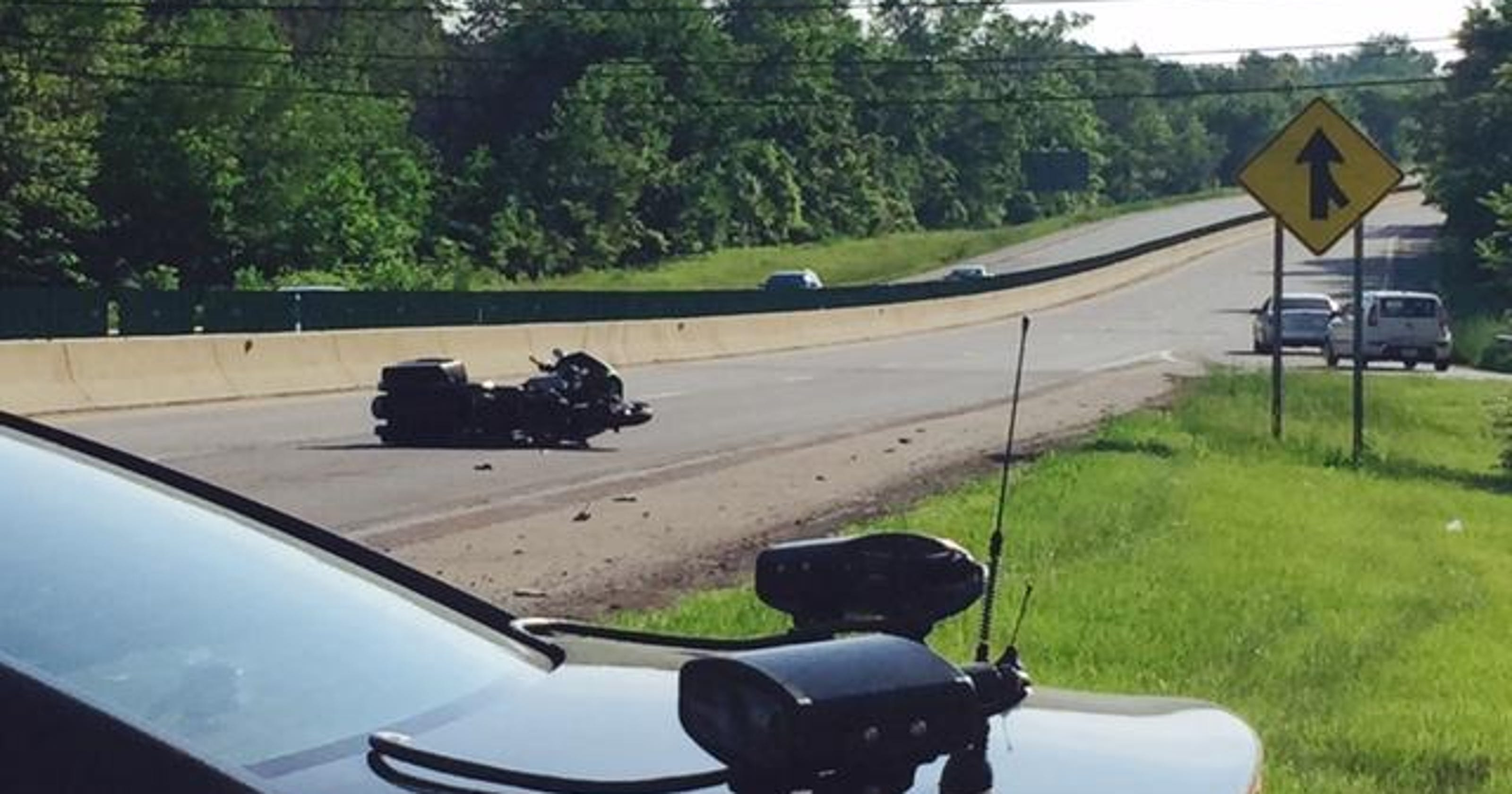 Two injured in motorcycle-deer crash shutting down U.S. 30