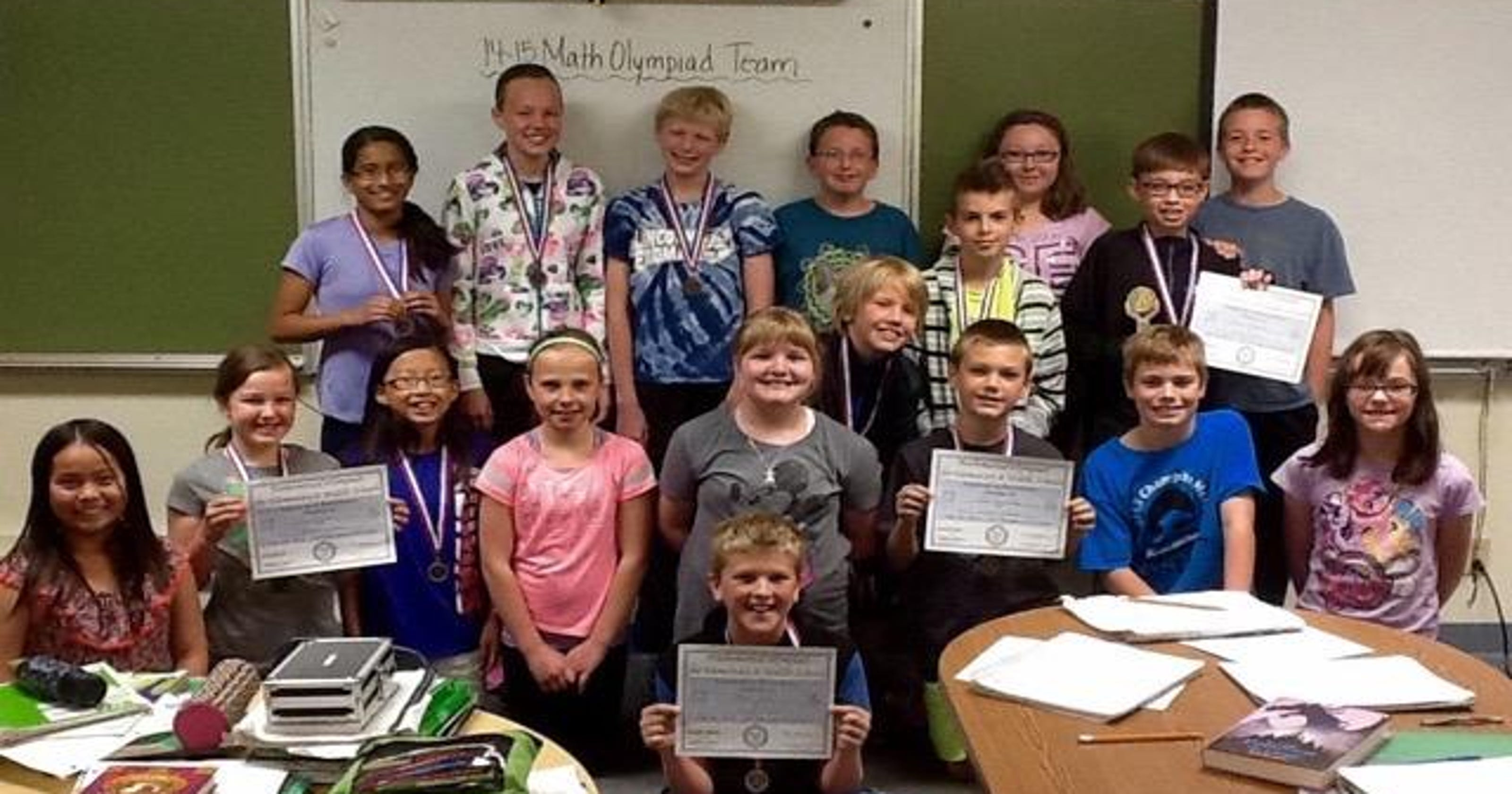 Lincoln-Erdman Math Olympiad Team ends season