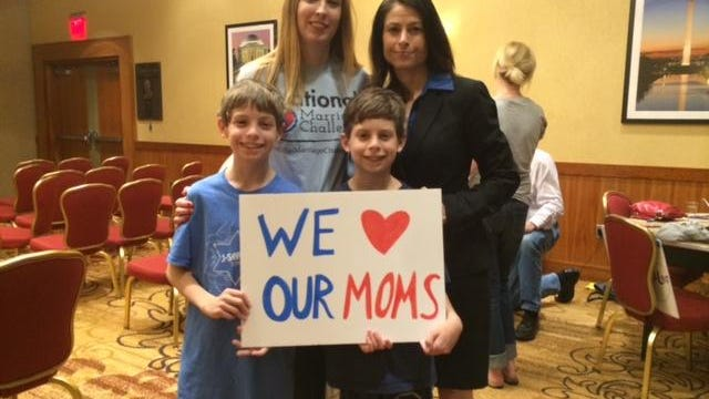 Dana Nessel (right, with her wife, Alanna Maguire, and their two sons, Zach and Alex) is the guest speaker at the Democrats of West Oakland County meeting Sept. 19.