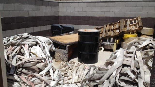 Washoe County provided this photo of firehose left in piles at a station during the 2012 fire divorce.