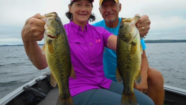 Greg and Geralyn Miller with a big walleye in the Hayward area