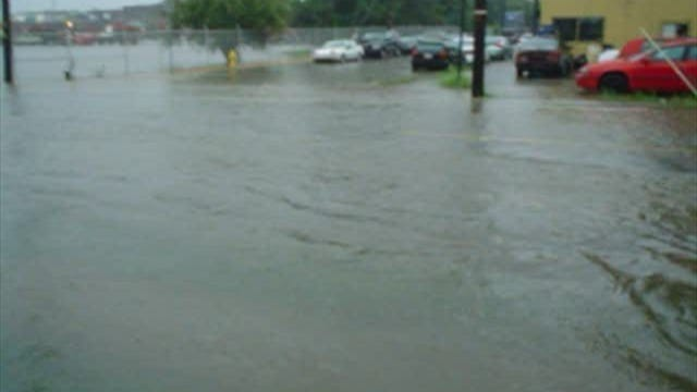 Flooding at East Princess and Albemarle streets in York