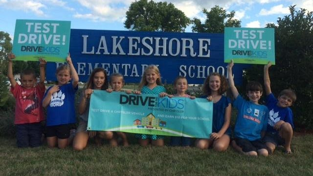 From 4:30 to 7:30 p.m. at Lakeshore Elementary, parents, friends and the Fond du Lac community will have the opportunity to earn $10 contributions for the school from the Chrysler brand, by taking a test drive in 2015 Chrysler vehicles.