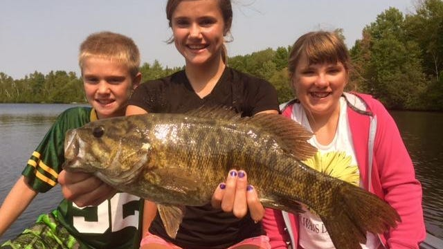 It was Chloe's turn with a big Chequamegon Bay smallmouth