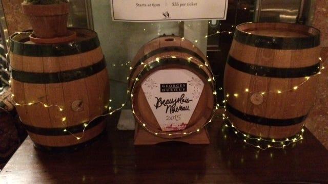 The barrel of Beaujolais Nouveaux awaits at ROUX.