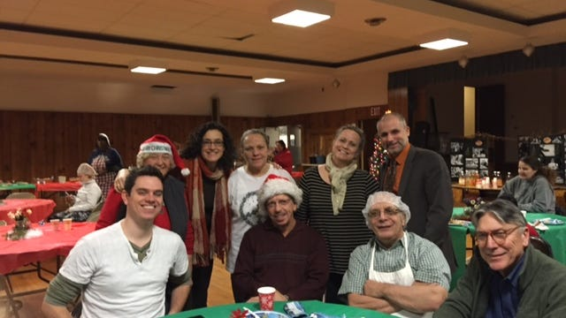 Some of the Holiday Dinner crew.