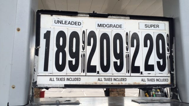 Gas prices are falling through the floor!