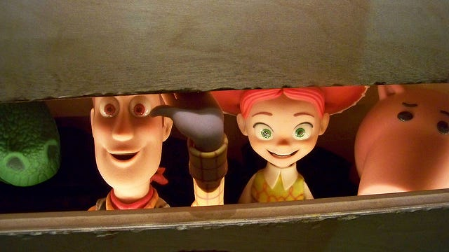 Woody and the other characters in Toy Story 3 are the most likely to induce tears, according to the Virgin Atlantic survey.