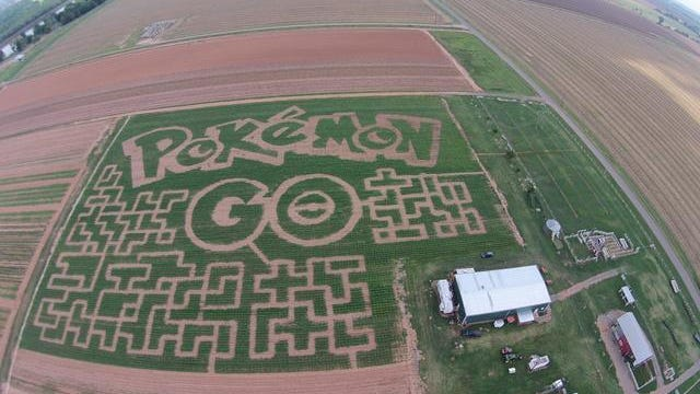 This year's theme for the DixieMaze Farms maze is Pokémon.