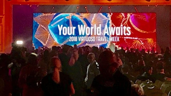 Thousands of travel professionals filled massive ballrooms