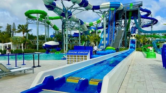 Super sliding and swimming at one of Miami's Super Bowl Hotels.