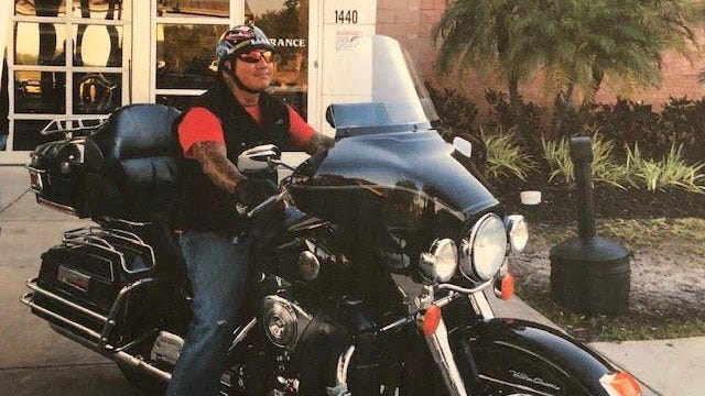 """Robert """"Chico"""" Perone died Saturday Aug. 10, 2019, after his motorcycle collided with a Lauderhill police car during a chase in southern Martin County."""